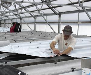 Joshua Kunzman setting up the NFT system